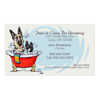 Dog Groomer Pet Spa Claw Tub Blue Appointment Pack Of Standard Business Cards