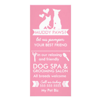 Dog Groomer Rack Card and Menu