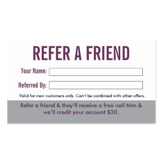 Dog Groomer Referral Business Card