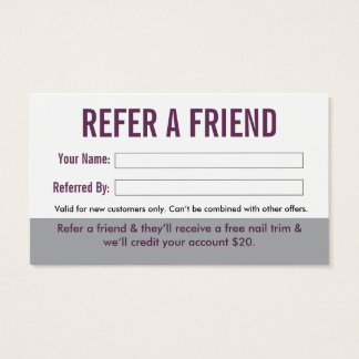 Dog Groomer Referral Business Card