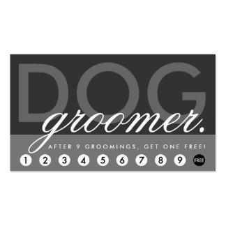 dog groomer rewards program business card templates