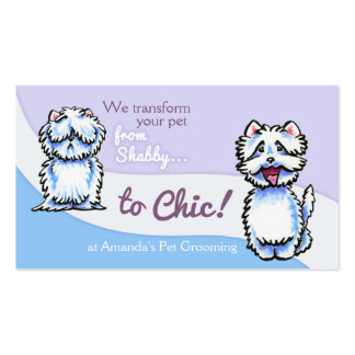 Dog Groomer Shabby Chic Westie Pack Of Standard Business Cards
