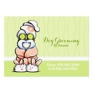 Dog Groomer Spa Robed Shih Tzu Cucumber Business Card Template