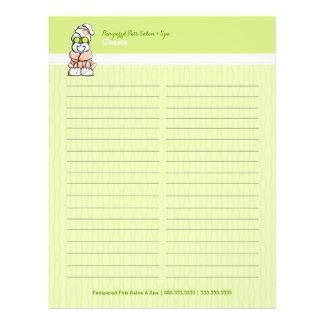Dog Groomer Spa Robed Shih Tzu Sign-In Guest Sheet 21.5 Cm X 28 Cm Flyer