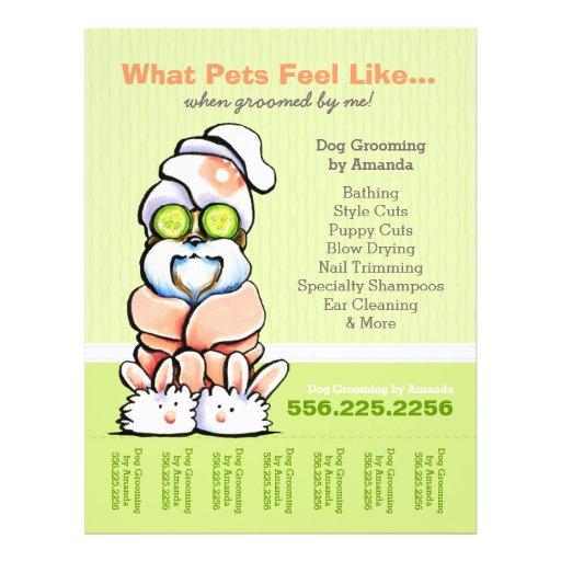 Dog Groomer Spa Shih Tzu Cucumber Tear Sheet Flyer