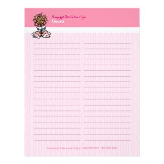 Dog Groomer Spa Yorkie Sign-In Guest Book Sheet 21.5 Cm X 28 Cm Flyer