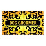 Dog Groomer Sunshine Damask Business Card