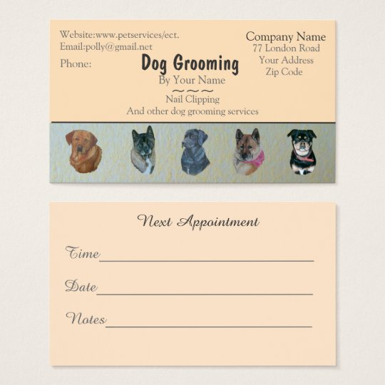 dog Grooming and pet care services appointment Business