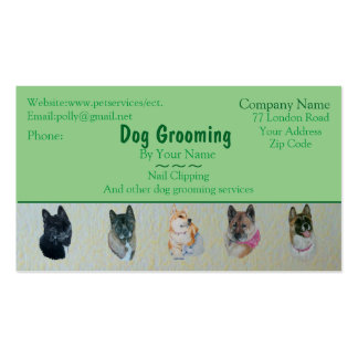 dog Grooming and pet care services customizable Double-Sided Standard Business Cards (Pack Of 100)