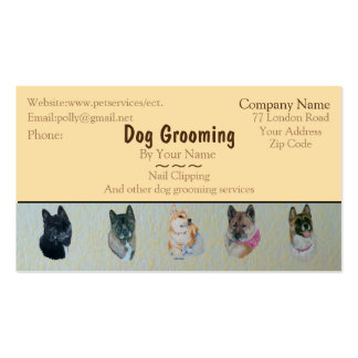 dog Grooming and pet care services customizable Pack Of Standard Business Cards