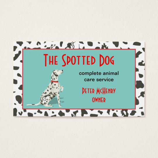 Dog Grooming Animal Care Service Business Card