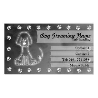 Dog Grooming Business Card grey