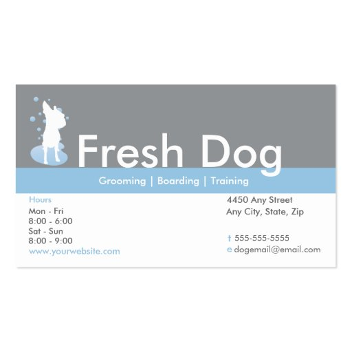 Dog grooming business card loyalty card zazzle for Dog grooming business cards
