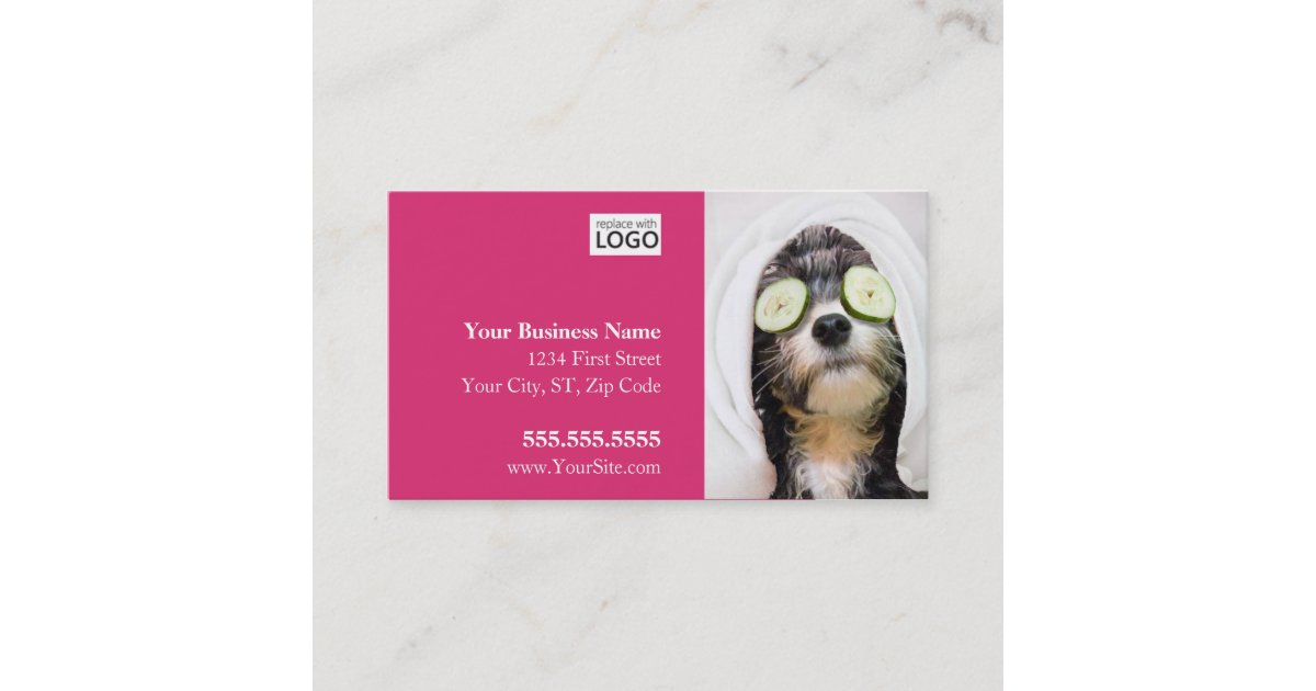 Dog Grooming Business Cards - Spa Design | Zazzle.co.uk