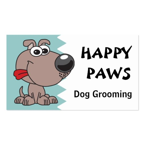 Dog Grooming, Clipping or Walking Business Card Templates