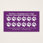 Dog Grooming Customer Loyalty Card