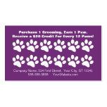 Dog Grooming Customer Loyalty Card