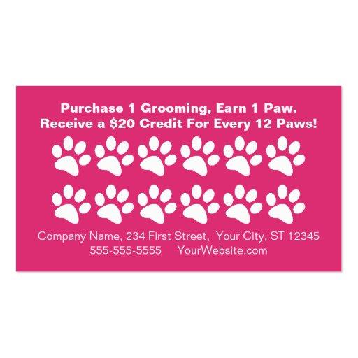 Dog Grooming Customer Rewards Card - Loyalty Card Business Card Template