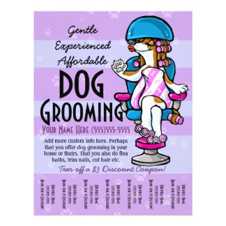 Dog Grooming. Customizable Promotional Tear sheet