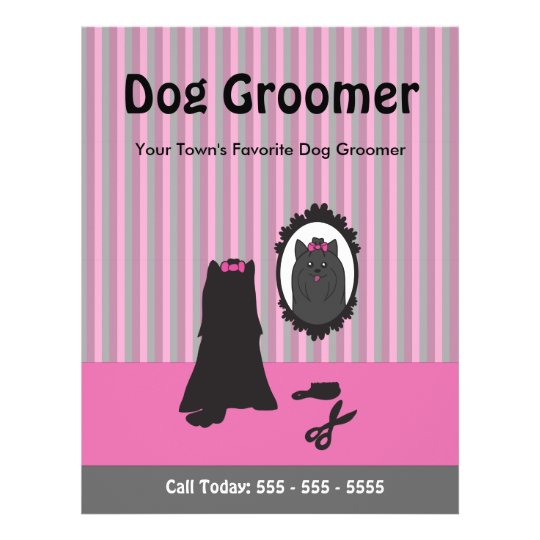 Dog Grooming Flyer - Can Be Personalised, Custom