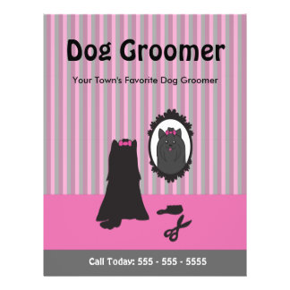 Dog Grooming Flyer - Can Be Personalized, Custom