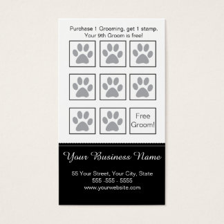 Dog Grooming Loyalty Card - Personalizable