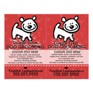 Dog Grooming.Pet Groomer.2 for 1.Customizable. 21.5 Cm X 28 Cm Flyer
