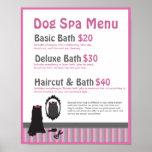 Dog Grooming Spa Menu - Personalizable