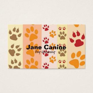 Dog Grooming stylish modern paw print Business Card