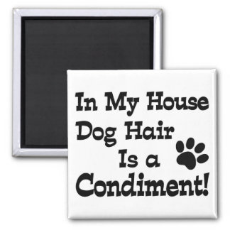Dog Hair Condiment Fridge Magnets
