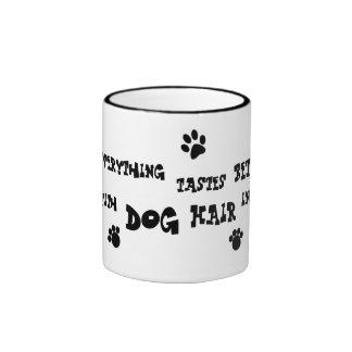 dog hair mug! ringer mug