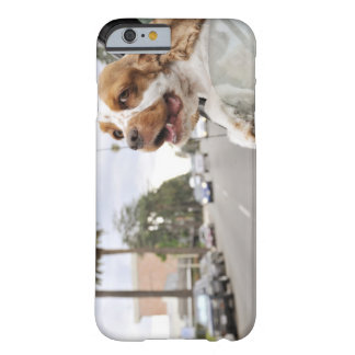 Dog hanging head out of car window barely there iPhone 6 case