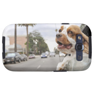 Dog hanging head out of car window samsung galaxy s3 cover