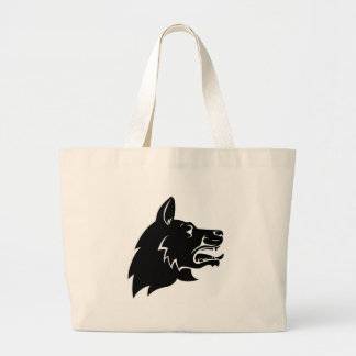 Dog Head Icon Large Tote Bag