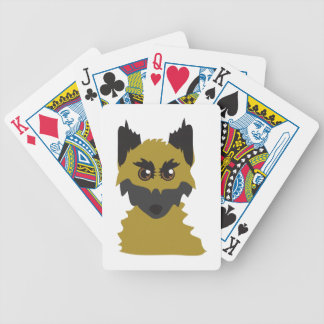 Dog Head Bicycle Playing Cards
