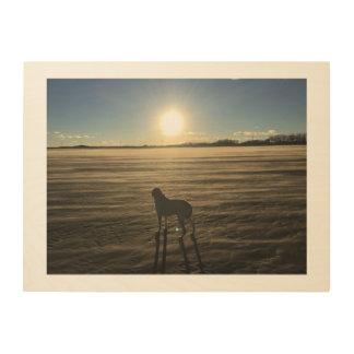 Dog Heaven Wood Print