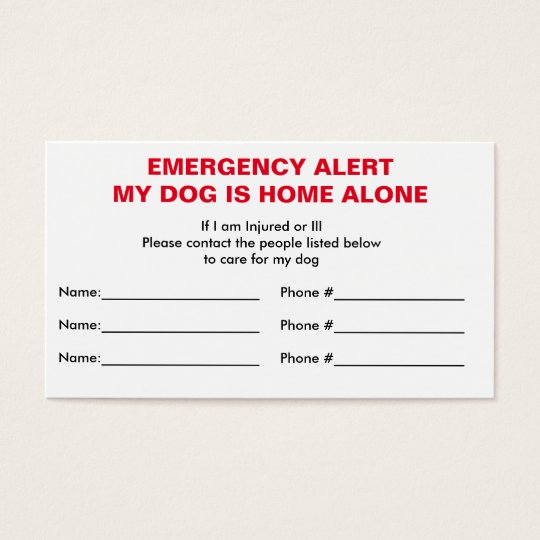 dog home alone card