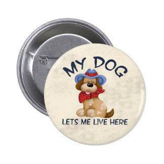 Dog House 6 Cm Round Badge