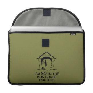 DOG HOUSE custom color MacBook sleeve