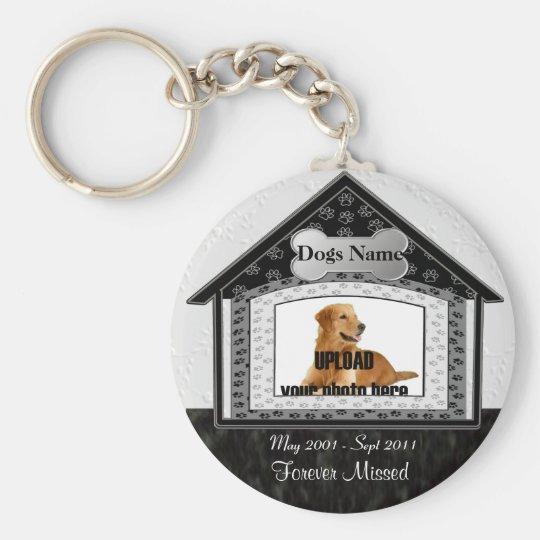 Dog House Pet Memorial Basic Round Button Key