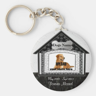 Dog House Pet Memorial Key Ring