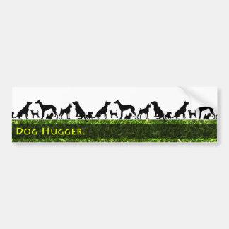 Dog Hugger Bumper Sticker
