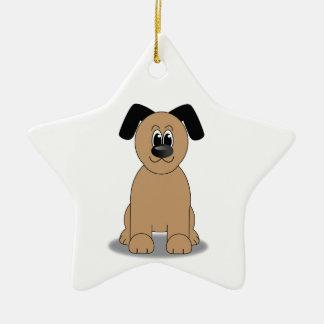 Dog illustration christmas ornament