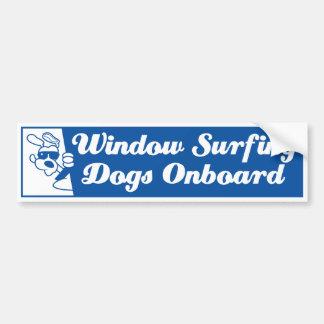Dog In A Car Bumper Sticker