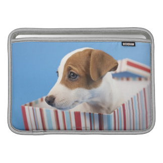 Dog in a Gift Box MacBook Sleeves