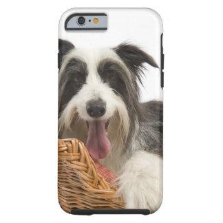 Dog in basket 2 tough iPhone 6 case