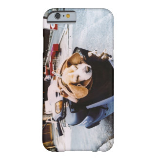 Dog in Basket of Motorscooter Barely There iPhone 6 Case