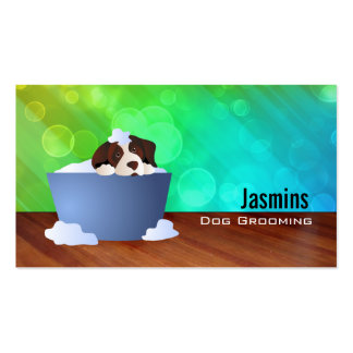 Dog in bath Business Cards