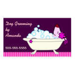 Dog in Bathtub - Pet Groomer Business Cards