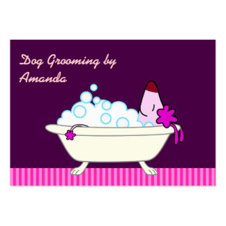Dog in Bathtub - Pet Groomer Pack Of Chubby Business Cards